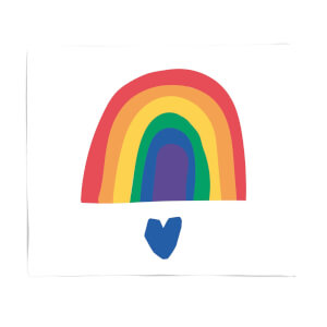 Rainbow And Heart Fleece Blanket