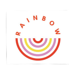 Upside Down Rainbow Fleece Blanket