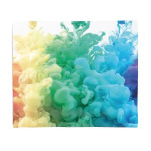 Rainbow Smoke Fleece Blanket