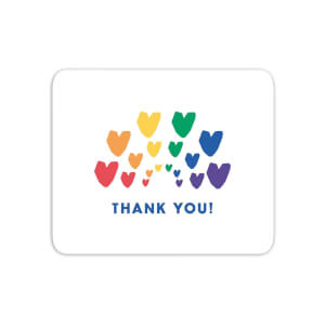 Thank You Rainbow Hearts Mouse Mat
