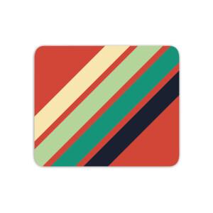 Green Retro Stripe Mouse Mat