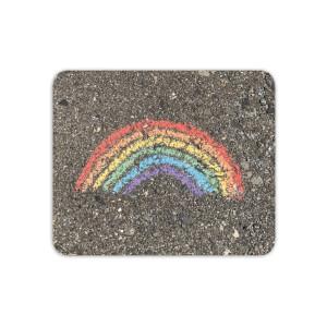 Chalk Rainbow Mouse Mat