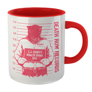 Death Row Records Mug Shot Mug - White/Red