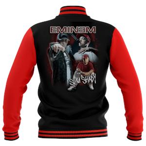 Eminem Unisex Varsity Jacke - Rot / Schwarz