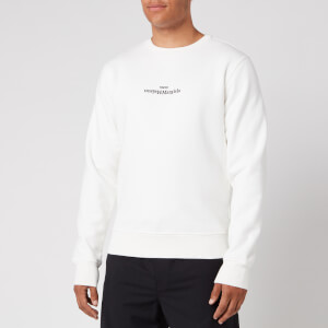 Maison Margiela Men's Embroidered Logo Sweatshirt - Off White