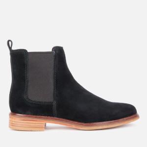 Clarks Women's Clarkdale Arlo Suede Chelsea Boots - Black