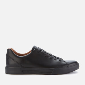 Clarks Men's Un Costa Lace Leather Low Top Trainers - Black