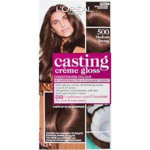 L'Oréal Paris Casting Creme Gloss Semi-Permanent Hair Colour - Medium Brown 500