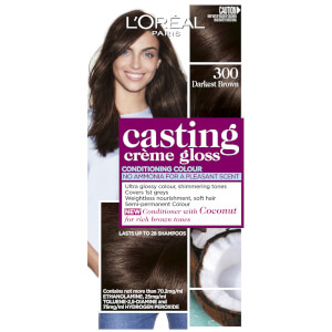 L'Oréal Paris Casting Creme Gloss Semi-Permanent Hair Colour - Darkest Brown 300