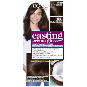 L'Oréal Paris Casting Creme Gloss Semi-Permanent Hair Colour - Darkest Brown 300