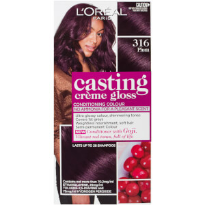 L'Oréal Paris Casting Creme Gloss Semi-Permanent Hair Colour - Plum 316