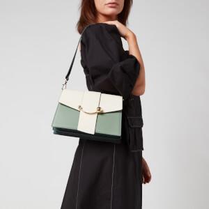 Strathberry Women's Crescent Shoulder Bag - Vanilla/Sage/Bottle Green