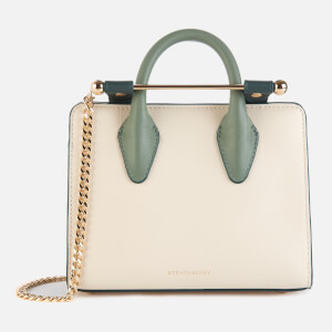 Strathberry Women's Nano Tote Bag - Vanilla/Bottle Green/Sage