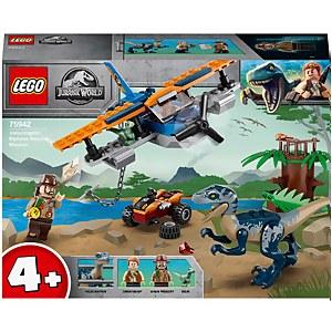 LEGO Jurassic World: Velociraptor Biplane Rescue Toy (75942)