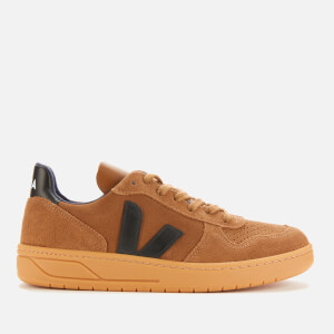 Veja Men's V-10 Suede Trainers - Brown/Black/Gum Sole