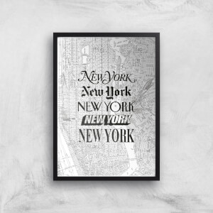 The Motivated Type New York Street Map Giclee Art Print