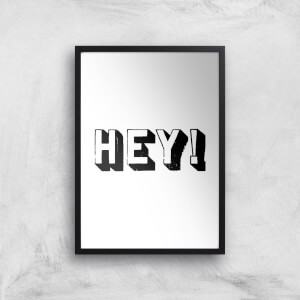 The Motivated Type Hey 3D Giclee Art Print