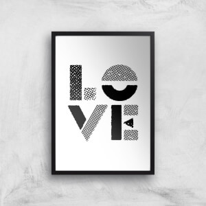 The Motivated Type Love Stencil Giclee Art Print