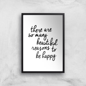 The Motivated Type There Are So Many Beautiful Reasons Handwritten Giclee Art Print