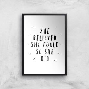The Motivated Type She Believed She Could So She Did Handwritten Giclee Art Print