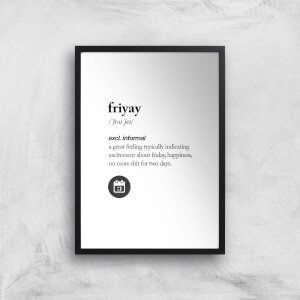 The Motivated Type Friyay Giclee Art Print