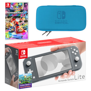 Nintendo Switch Lite (Grey) Mario Kart 8 Deluxe Pack