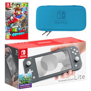 Nintendo Switch Lite (Grey) Super Mario Odyssey Pack