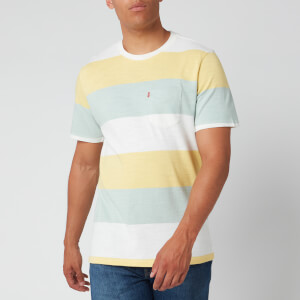 Levi's Men's Sunset Pocket Rugby Stripe T-Shirt - Dusty Citron