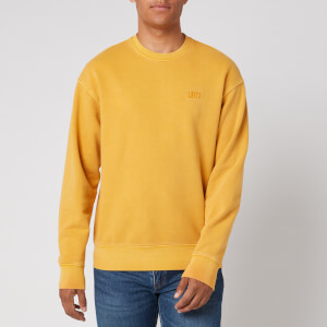 Levi's Men's Authentic Logo Garment Dye Sweatshirt - Yellow