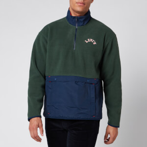 Levi's Men's Quarter Zip Polar Fleece - Python Green