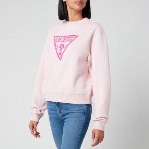 Guess Women's Basic Triangle Sweatshirt - Peony Blush