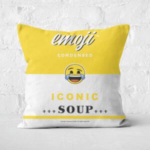 Emoji Crying Laughing Square Cushion