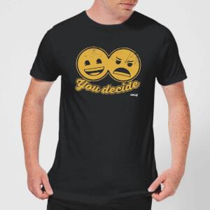 Emoji You Decide Men's T-Shirt - Black