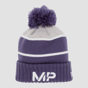 MP Bobble Knitted Bobble Hat - Navy/White