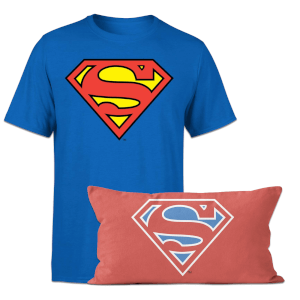 Superman T-Shirt And Cushion Bundle