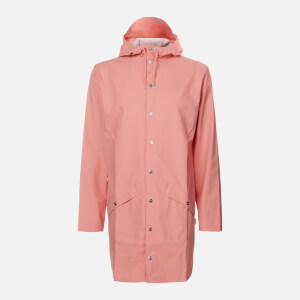 RAINS Long Jacket - Coral