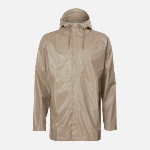 RAINS Short Coat - Shiny Beige