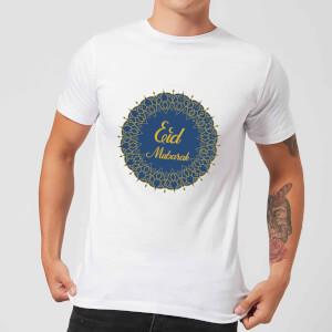 Eid Mubarak Royal Tones Wreath Men's T-Shirt - White