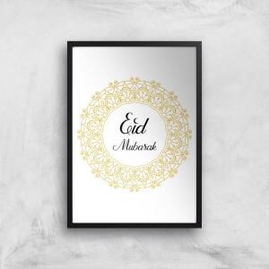 Eid Mubarak Golden Mandala Giclee Art Print