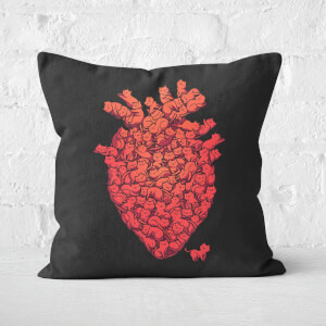 I Love Cat Heart Square Cushion