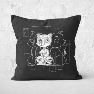 Cat Inside Square Cushion
