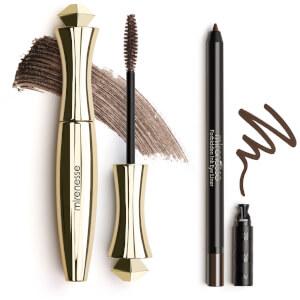 mirenesse Original 24 Hour Mascara and Forbidden Ink Eyeliner Set - Brown