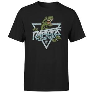 Camiseta Jurassic Park Raptors On Tour Stroke - Hombre - Negro