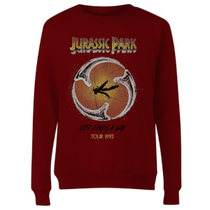 Jurassic Park Life Finds A Way Tour Women's Sweatshirt - Burgundy