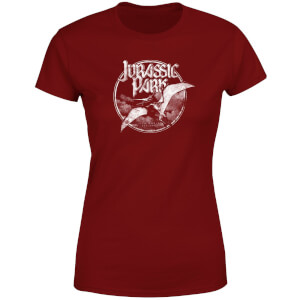 Jurassic Park Flying Threat Women's T-Shirt - Burgundy