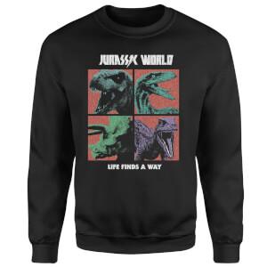 Jurassic Park World Four Colour Faces Sweatshirt - Black
