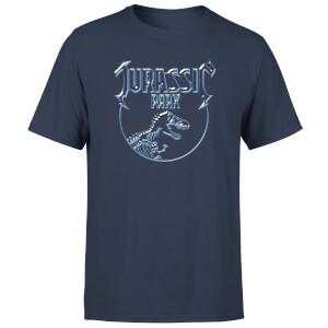 Camiseta Jurassic Park Logo Metal - Hombre - Azul marino