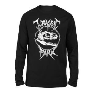 Jurassic Park T-Rex Bones Unisex Long Sleeved T-Shirt - Black