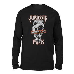 Jurassic Park Rex Punk Unisex Long Sleeved T-Shirt - Black