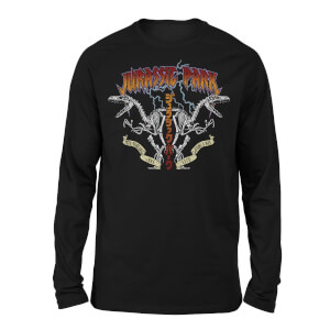 Jurassic Park Raptor Twinz Unisex Long Sleeved T-Shirt - Black